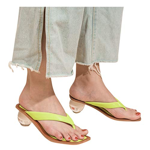 For Sale! Padaleks Women's Flip-Flops Comfort Thong Style Sandals for Women High Heels Slippers Casu...