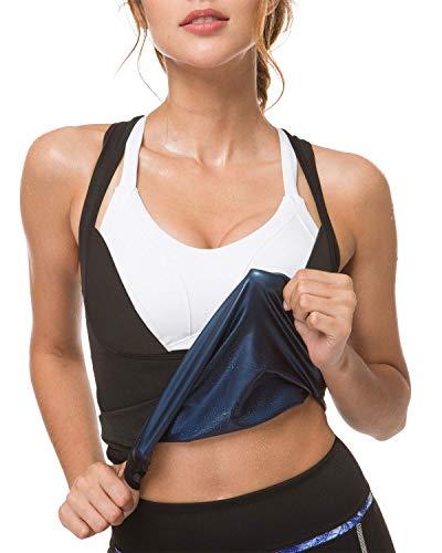 IFLOVE Women's Body Shaper Sweat Vest Sauna Suit Slimming Polymer Weight Loss Workout Shapewear L/XL