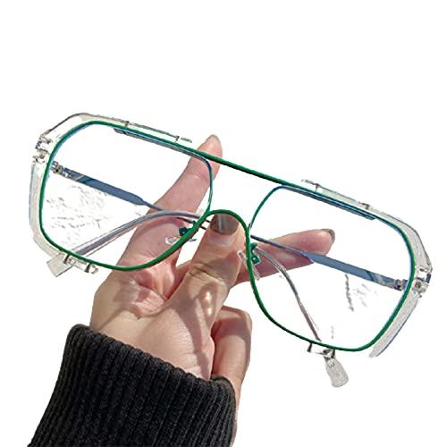 LIDABAO Gafas de sol de gran tamaño, protección UV, montura de metal, varios colores para hombre y mujer