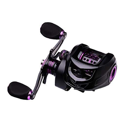Durable Spinning Carrete De Pesca De La Carpa Carretes 7: 2: 1 Relación De Engranajes para Zurdos Lover Regalos Púrpura Cw10 Pesca