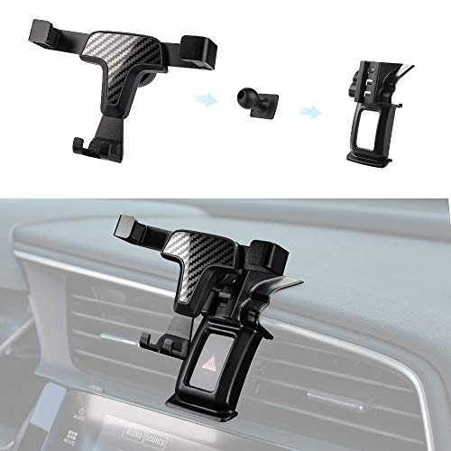 Thenice - Soporte para teléfono móvil Civic de 10ª generación, soporte para GPS de coche de 360 grados, soporte para smartphone para Honda Civic 2016 2017 2018 2019