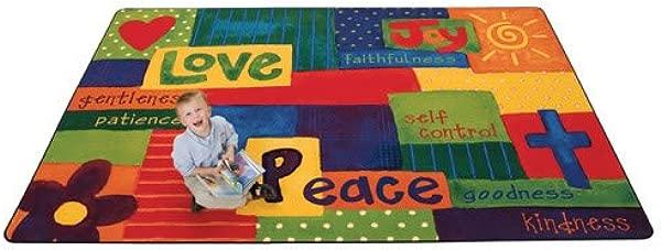Carpets For Kids 90115 Spiritual Fruit Painted Kid Value Plus Rug 6 X 9