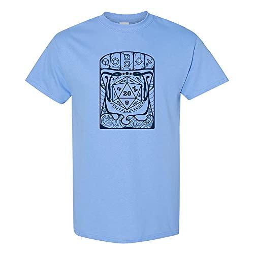 Art Nouveau d20 - Camiseta gráfica retrô de artista de jogos RPG de mesa, Carolina Blue, 3XL