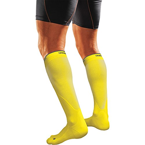 Shock Doctor SVR Recovery Compression Socks - Adult Shock Yellow X-Large