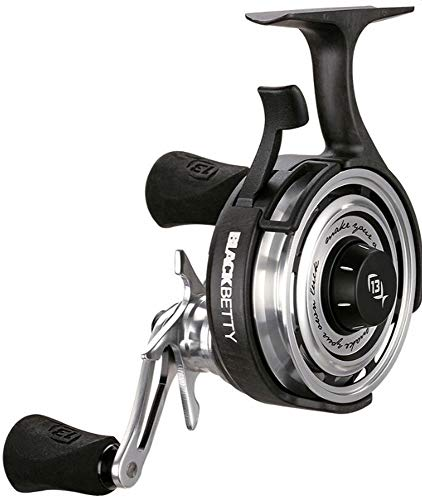 13 Fishing Black Betty 2.5:1 Freefall Inline Ice Fishing Reel (Right)