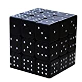Sudoku Cube 3d Relief 3x3 Speed ​​Smoothing Puzzle Juguetes educativos para niños ciegos Disponible 3d IQ Game Relieve Efecto Sudoku Braille Magic Cube Puzzle Twist Ciego Cubic Brain Teaser,Black