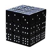 Sudoku Cube 3d Relief 3x3 Speed Smoothing Puzzle Juguetes educativos para niños ciegos Disponible 3d IQ Game Relieve Efecto Sudoku Braille Magic Cube Puzzle Twist Ciego Cubic Brain Teaser,Black