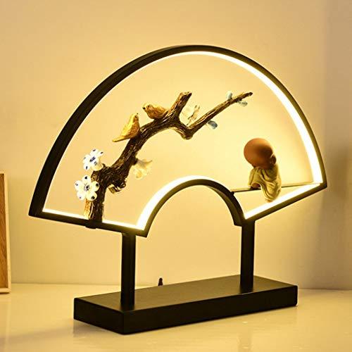 xilinshop Lámpara de Mesa Estudio de Estilo Lámpara de Estilo Nuevo Chino Dormitorio lámpara de cabecera del Arte Chino Crafts Decoración Estudio Zen Zen Hotel lámpara de Mesa Lámparas de Escritorio