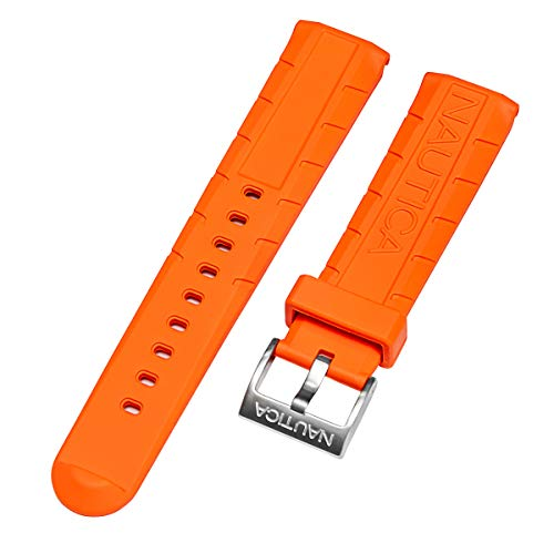 Nautica Men's N12641G | A12641G NSR 103 Orange 22mm Original PU | Rubber Replacement Watch Band