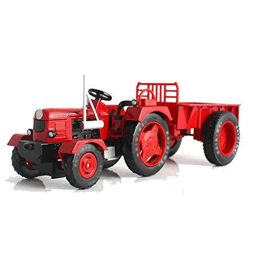SXET Tractor Modelo agrícola Coche de Juguete para niños 1:18 Tractor de camión de ingeniería de aleación con Cuerpo