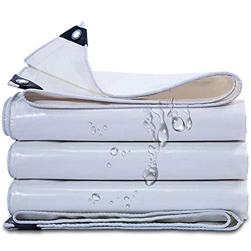 QIAOH Lona De Protección con Ojales 6×4m, Lona Impermeable Exterior, Lona Impermeable Universal con Ojales Toldo Impermeable Y Resistente a Rayos UV