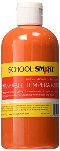 School Smart 1439206 Washable Tempera Paint - Pint - Orange