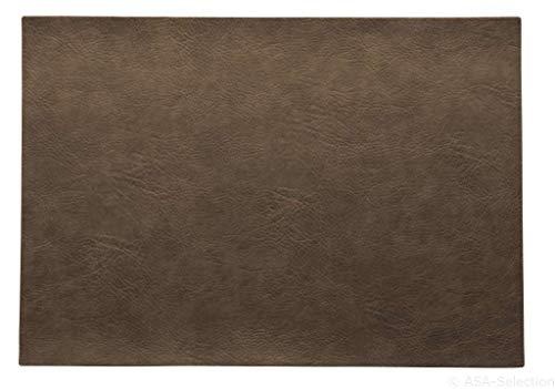 ASA - Tischset, Platzset - Farbe: Nougat Braun - Kunstleder - 46 x 33 cm - 6er Set