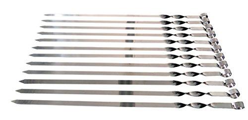 Edelstahl Schaschlikspiesse 60cm 2mm