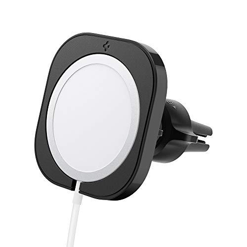 Spigen mag Fit mag Safe Soporte Móvil Coche Autolader Telefoonhouder (Cargador no Incluido y Requiere Cargador USB para automóvil)