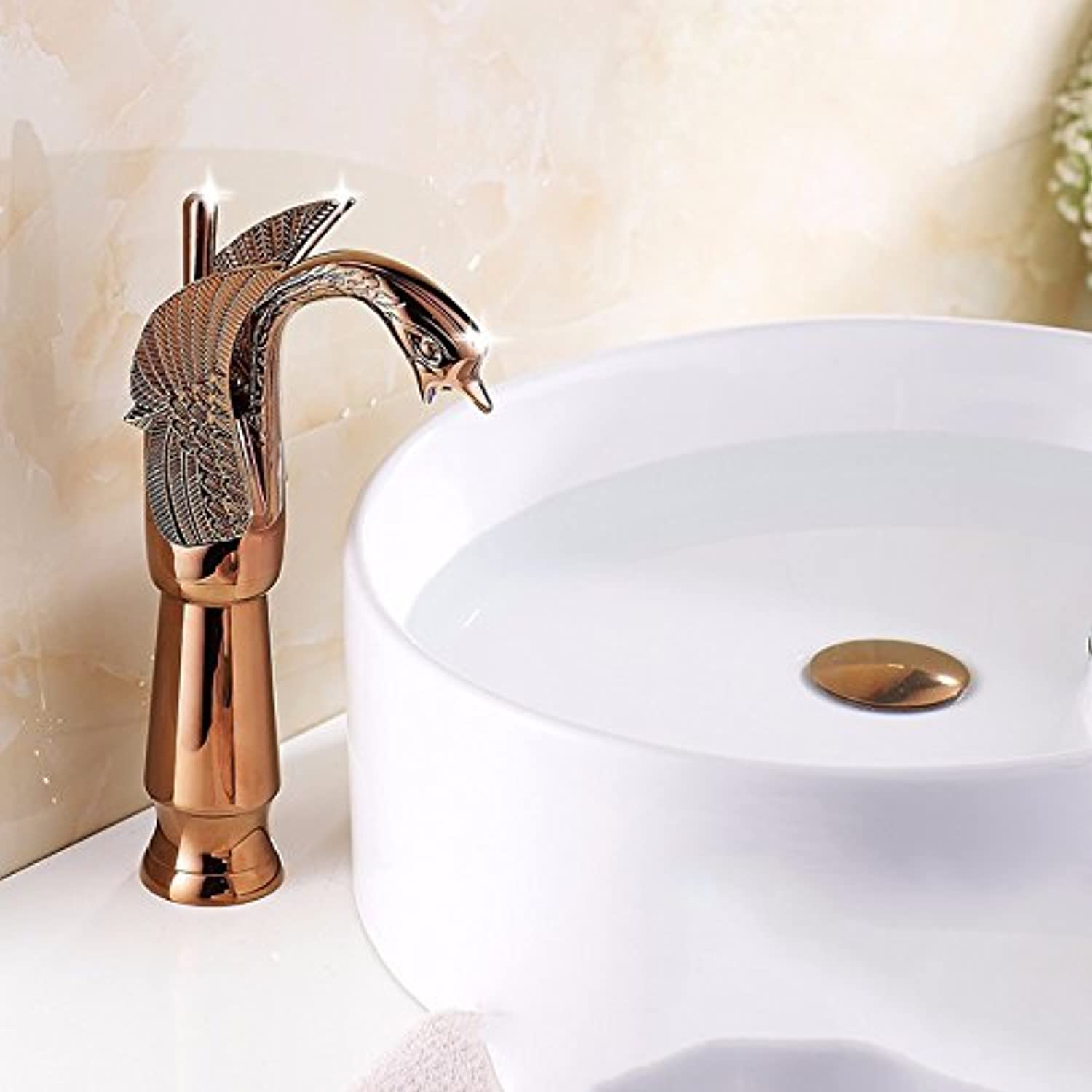 LHbox Basin Mixer Tap Bathroom Sink Faucet Euro-copper pink gold taps toilets hot and cold basin gold plated basin surface basin Faucet