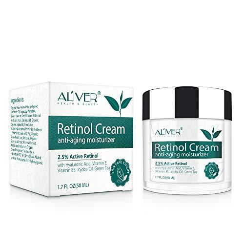 Crema Facial Retinol,IFUDOIT Crema Hidratante Retinol,Crema Antiarrugas Noche Día para Rostro y Ojos,con 2.5% de Retinol, Hialurónico,Vitamina E y Aceite de Jojoba