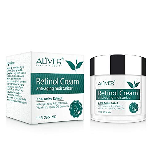 Retinol-Gesichtscreme, Retinol-Feuchtigkeitscreme, Anti-Aging-Falten-Nacht-/Tagescreme für Gesicht...