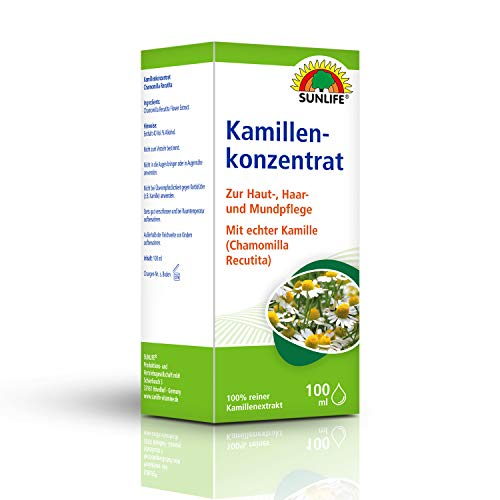 SUNLIFE Kamillen-Konzentrat: Zur Haut-, Haar- und Mundpflege, echte Kamille, reiner Kamillen-Extrakt, 100ml