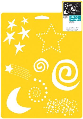 Delta Creative Stencil Mania Stencil, 7da 25,4cm, 970810710Fun Shapes