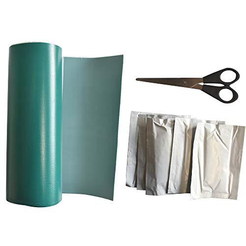Boni-Shop  PVC Planen Reparaturset 0,30 x 1,50 m (inkl. 5 Reinigungstücher + 1 Schere) (grün)