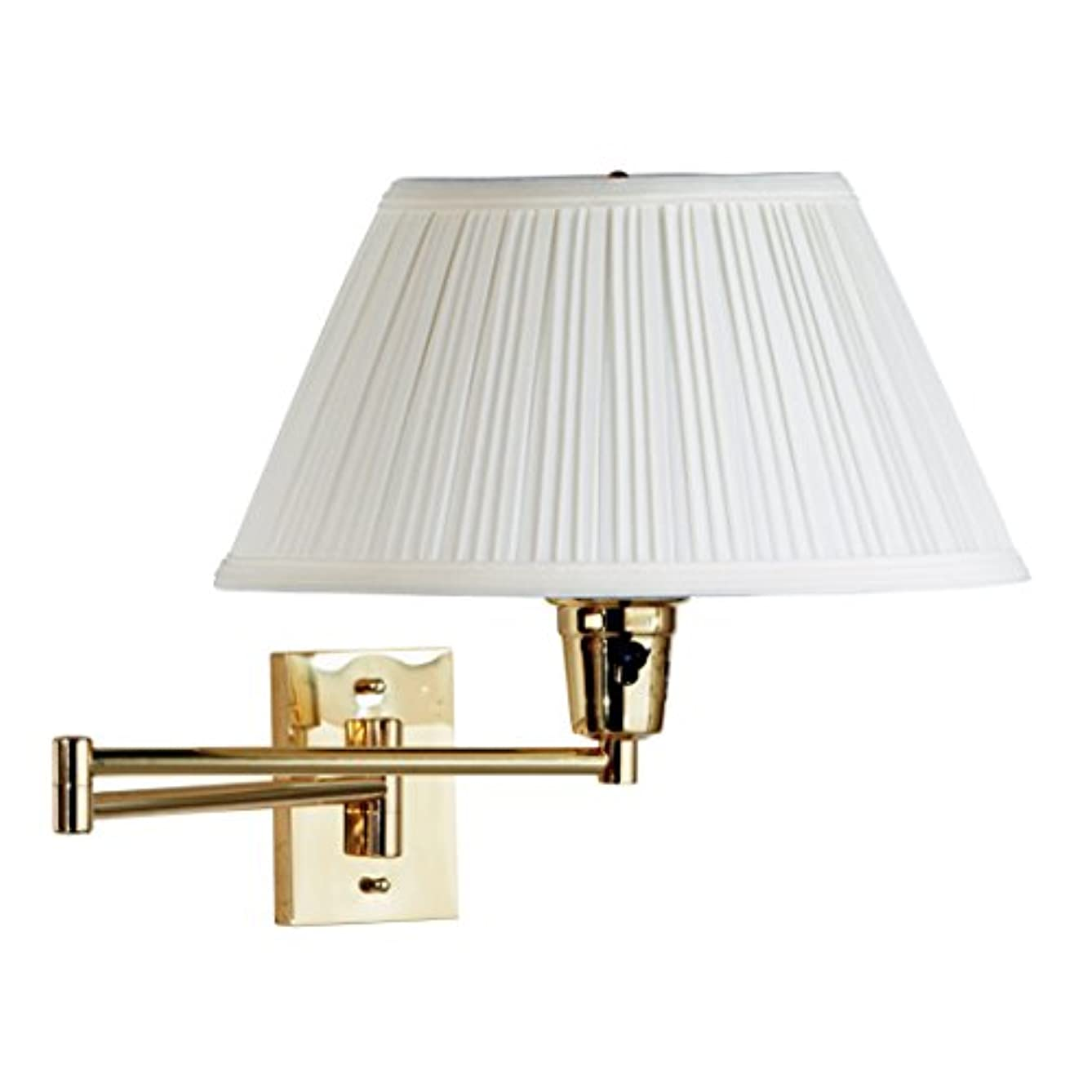 Functional and Stylish, Varallo Wall Swing Arm Lamp, Brass Finish f033023950700329