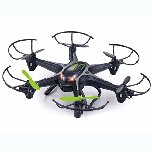 Lacaca D22 2.4Ghz 4Channel 6 Axis RC Quadcopter con Led Drone (Nero)