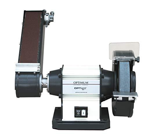 Optimum Universalschleifmaschine OPTIgrind GU 20S (wartungsfreier Motor, mit Schleifband und Schleifscheibe), 3101570