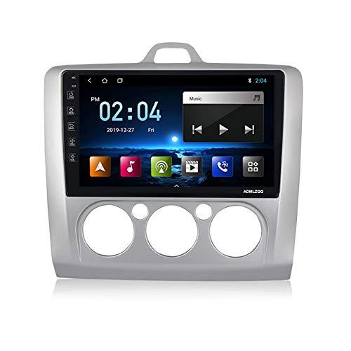 ADMLZQQ para Ford Focus 2 2004-2011 Android 9.0 Estéreo Navegación para Coche, Pantalla Táctil De 9 Pulgadas, FM/GPS/WiFi/Bluetooth/Cámara Trasera/Control del Volante,M100 1g+16g