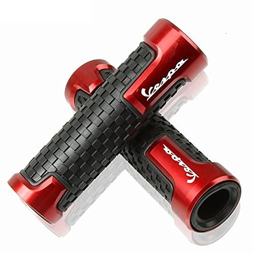QWASZ Accesorios 22mm7 / 8 `` Accesorios De Barra De Manillar De Motocicleta Puños De Manillar para Vespa Scooter 150 Gts300 LX150 GTS LXV Live Live (Color : Red)