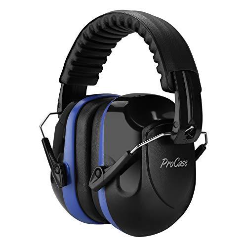ProCase Casco Antiruido, Protector Auditivo SNR 34 dB Aislante de Ruido Profesional, Casco Insonorizado Protector de Oído para Campo de Disparo, Caza -Azul