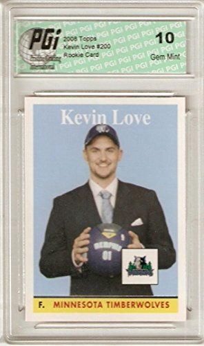 KEVIN LOVE 2008-09 Topps Basketball 1958-59 SP #200 Rare Rookie Card PGI 10