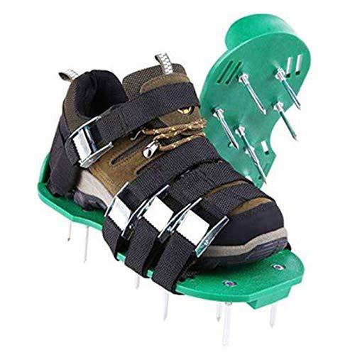JMBF Zapatos de Aireador de Césped Sandalias de Aireador de Césped Rodillo de Aireador de Césped Zapato de Césped, Zapato de Césped, Escarificador de Ventilador de Césped Escarificador