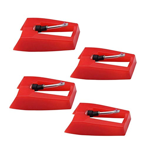 4 Pack Ruby Record Player Needle Turntable Stylus Replacement for ION Jenson Crosley Victrola Sylvania Turntable Phonograph LP Vinyl Player More brand