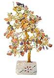 Piquaboo árbol del Dinero Grande con Gemas y Cristales de Feng Shui 25 cm (Multicolor)