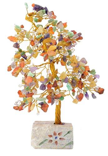 Precioso Árbol del dinero Grande con Gemas y Cristales de Feng Shui 2
