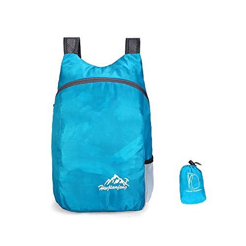 Value Sky Zaino Ripiegabile Impacchettabile Ultraleggero Packable Zaino Leggero Pieghevole da Uomo e da Donna per Campeggi Viaggio Trekking Arrampicata e All'Aperto Sportiva (Blu)