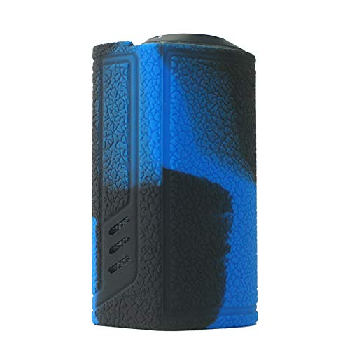 Rayley Protective Silicone Case Skin Cover Sleeve Wrap Shield for Lost Vape Triade DNA250C TC Box MOD (Black Blue)