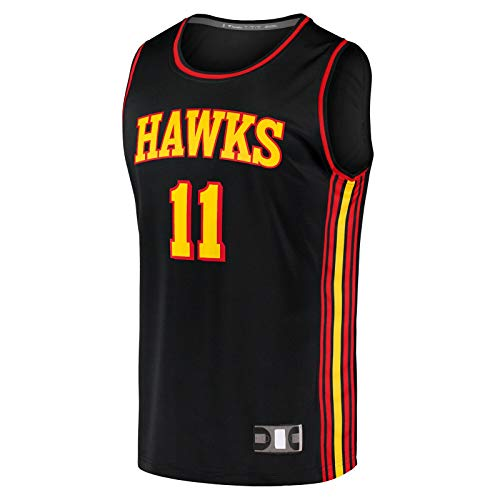 DENGPAO Black -Trae - Camiseta deportiva para hombre, sin mangas, camiseta de manga corta para hombre, talla XXL, diseño de Atlanta