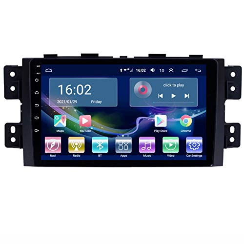 TIANDAO Android 9.1 Car Radio Satellite GPS Navigator FM Am Pantalla táctil Control del Volante Soporte Bluetooth WiFi USB SD Player Adecuado para Kia Borrego 2008-2016(Color:4G+WiFi 1G+16G)