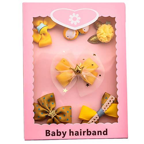 Niñas Hairclips el juego lindo de clips de la princesa del arco del estilo del pelo de los niños Pin Función Multi arte hecho a mano del pelo de los niños del pelo de Headwear Accesorios 1Ponga amari