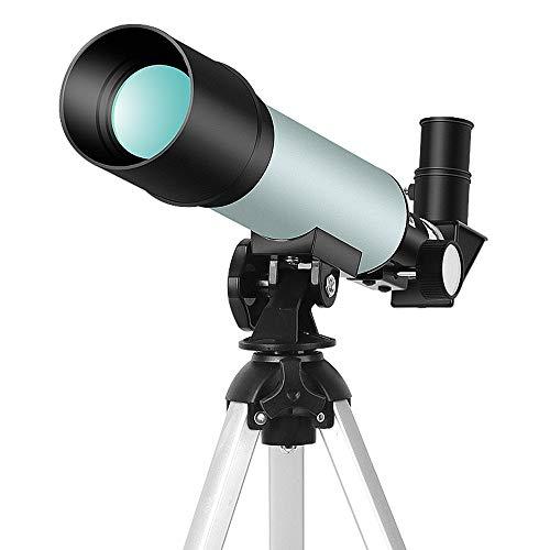 WNN-URG Astronomische Fernrohr for Kinder Anfänger Erwachsene, 50mm Astronomische Refraktor Teleskop mit justierbarem Stativ for Kinder Teens URG