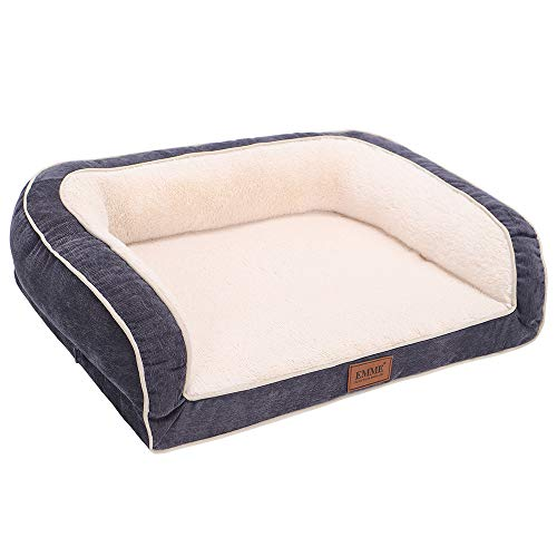EMME Dog Bed for Small, Medium and Large Dogs Orthopedic Dog Beds with Plush Foam Mattress Joint...