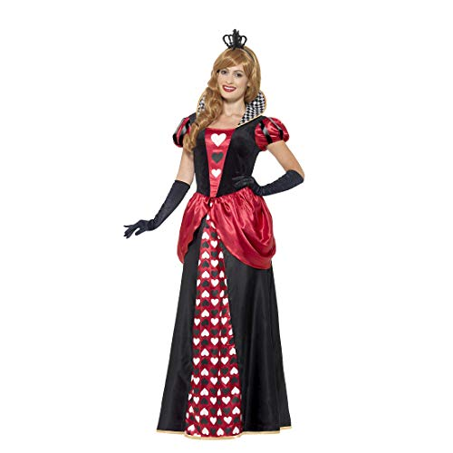 NET TOYS Elegante Disfraz Reina de Corazones - Negro-Rojo XXL (ES 52/54) - Atractiva Vestimenta Dama Reina de Corazones - Insuperable para Fiestas temáticas y Carnaval
