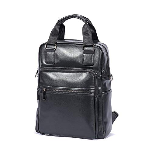 ZJX168 Men's Leather Handbag Shoulder Bag Crossbody Vintage Business Luxur 12' Laptop Backpack Multipurpose Computer Messenger Bags