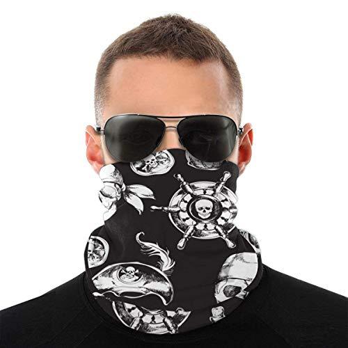 N / A Unisex Sin Costura Calentador De Cuello,Calavera Pirata Sombreros,Customed Cuello Pañuelo,Protección UV Cuello Bufanda para Hombre Mujer