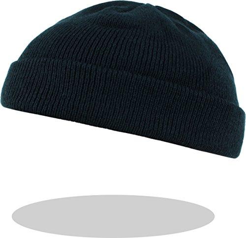 Herren Rollmütze extra Kurz in Schwarz One Size