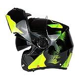Hombres Flip Up Cascos de Motocross Doble Lente Anti Niebla Protección Completa Casco de La Motocicleta Mujeres Racing Protección Caps Gorras De Seguridad Profesional Modular Racing Casco