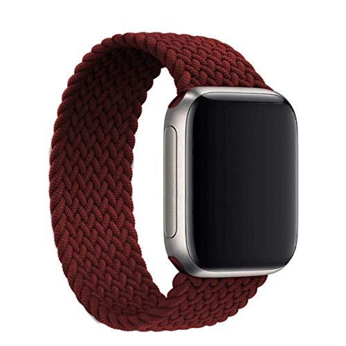 Gizget Solo Loop trenzado, compatible con reloj de pulsera de 38 mm, 40 mm, 42 mm, 44 mm, fibras de silicona trenzadas, correa deportiva de repuesto para iWatch Serie 6/5/4/3/2/1,SE, mujer, hombre