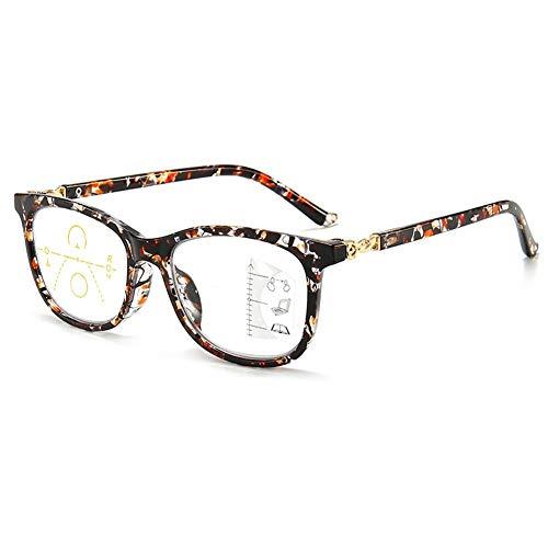 Blue Light Blocking Progressive Multifocus Reading Glasses for Women Men,No Line Multifocal Readers